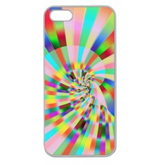 Irritation Funny Crazy Stripes Spiral Apple Seamless Iphone 5 Case (clear) by designworld65