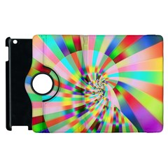 Irritation Funny Crazy Stripes Spiral Apple Ipad 3/4 Flip 360 Case by designworld65