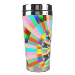 Irritation Funny Crazy Stripes Spiral Stainless Steel Travel Tumblers by designworld65