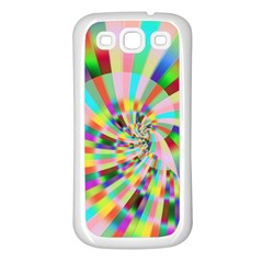 Irritation Funny Crazy Stripes Spiral Samsung Galaxy S3 Back Case (white) by designworld65