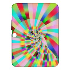 Irritation Funny Crazy Stripes Spiral Samsung Galaxy Tab 3 (10 1 ) P5200 Hardshell Case  by designworld65