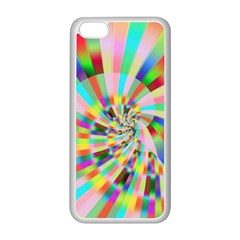 Irritation Funny Crazy Stripes Spiral Apple Iphone 5c Seamless Case (white) by designworld65