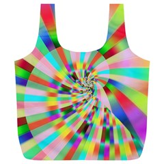 Irritation Funny Crazy Stripes Spiral Full Print Recycle Bags (l)  by designworld65