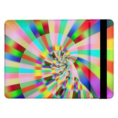 Irritation Funny Crazy Stripes Spiral Samsung Galaxy Tab Pro 12 2  Flip Case by designworld65