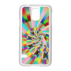 Irritation Funny Crazy Stripes Spiral Samsung Galaxy S5 Case (white) by designworld65