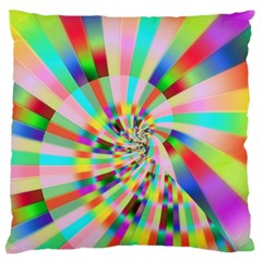 Irritation Funny Crazy Stripes Spiral Standard Flano Cushion Case (two Sides) by designworld65