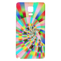 Irritation Funny Crazy Stripes Spiral Galaxy Note 4 Back Case by designworld65