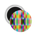 Multicolored Irritation Stripes 2.25  Magnets Front