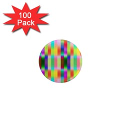 Multicolored Irritation Stripes 1  Mini Magnets (100 Pack)  by designworld65