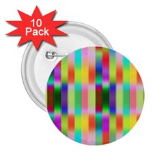 Multicolored Irritation Stripes 2 25  Buttons (10 Pack)  by designworld65