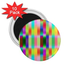 Multicolored Irritation Stripes 2 25  Magnets (10 Pack)  by designworld65