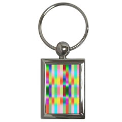 Multicolored Irritation Stripes Key Chains (rectangle)  by designworld65