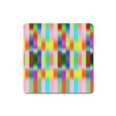 Multicolored Irritation Stripes Square Magnet by designworld65