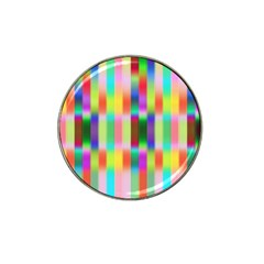Multicolored Irritation Stripes Hat Clip Ball Marker by designworld65