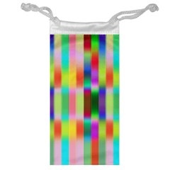 Multicolored Irritation Stripes Jewelry Bag by designworld65