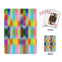 Multicolored Irritation Stripes Playing Card by designworld65