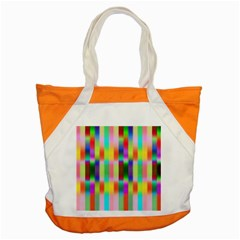 Multicolored Irritation Stripes Accent Tote Bag by designworld65