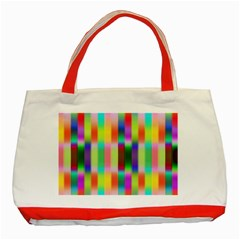 Multicolored Irritation Stripes Classic Tote Bag (red) by designworld65