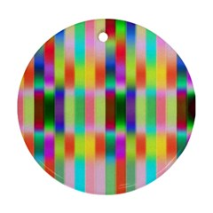 Multicolored Irritation Stripes Round Ornament (two Sides) by designworld65