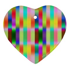Multicolored Irritation Stripes Heart Ornament (two Sides) by designworld65