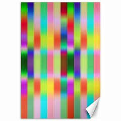 Multicolored Irritation Stripes Canvas 12  X 18   by designworld65