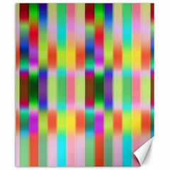 Multicolored Irritation Stripes Canvas 20  X 24   by designworld65