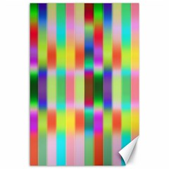 Multicolored Irritation Stripes Canvas 24  X 36  by designworld65