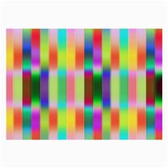 Multicolored Irritation Stripes Large Glasses Cloth (2 Side) by designworld65