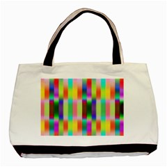 Multicolored Irritation Stripes Basic Tote Bag (two Sides) by designworld65