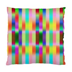 Multicolored Irritation Stripes Standard Cushion Case (two Sides) by designworld65