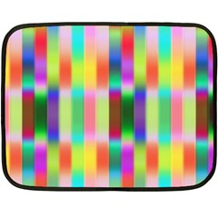 Multicolored Irritation Stripes Double Sided Fleece Blanket (mini)  by designworld65