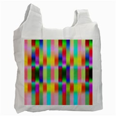 Multicolored Irritation Stripes Recycle Bag (one Side) by designworld65