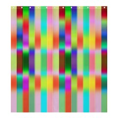 Multicolored Irritation Stripes Shower Curtain 66  X 72  (large)  by designworld65