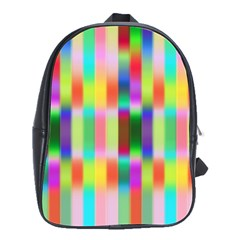Multicolored Irritation Stripes School Bag (large) by designworld65