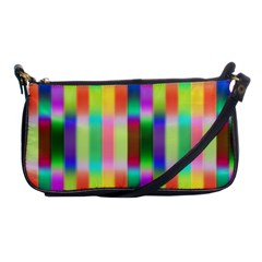 Multicolored Irritation Stripes Shoulder Clutch Bags by designworld65