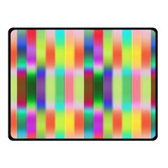 Multicolored Irritation Stripes Fleece Blanket (small) by designworld65