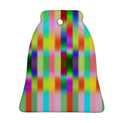 Multicolored Irritation Stripes Ornament (bell) by designworld65