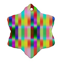 Multicolored Irritation Stripes Snowflake Ornament (two Sides) by designworld65
