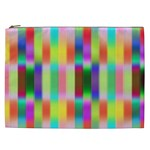 Multicolored Irritation Stripes Cosmetic Bag (XXL)  Front