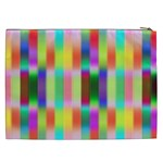 Multicolored Irritation Stripes Cosmetic Bag (XXL)  Back