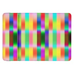 Multicolored Irritation Stripes Samsung Galaxy Tab 8 9  P7300 Flip Case by designworld65