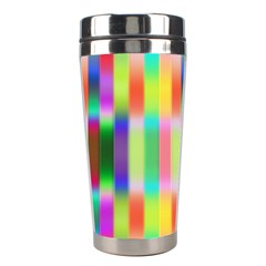Multicolored Irritation Stripes Stainless Steel Travel Tumblers by designworld65