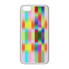Multicolored Irritation Stripes Apple Iphone 5c Seamless Case (white) by designworld65