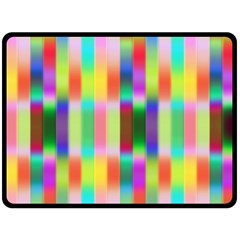 Multicolored Irritation Stripes Double Sided Fleece Blanket (large)  by designworld65