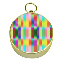 Multicolored Irritation Stripes Gold Compasses by designworld65