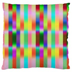 Multicolored Irritation Stripes Standard Flano Cushion Case (one Side) by designworld65