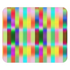 Multicolored Irritation Stripes Double Sided Flano Blanket (small)  by designworld65