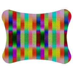 Multicolored Irritation Stripes Jigsaw Puzzle Photo Stand (bow) by designworld65