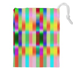 Multicolored Irritation Stripes Drawstring Pouches (xxl) by designworld65