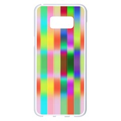 Multicolored Irritation Stripes Samsung Galaxy S8 Plus White Seamless Case by designworld65